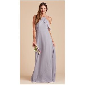 Birds Grey Silver Bridesmaid Dress Size L